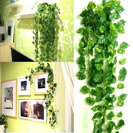Artificial plants in home decor